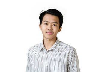 Portrait of a young asian businessman. Isolated on white background with copy space and clipping path