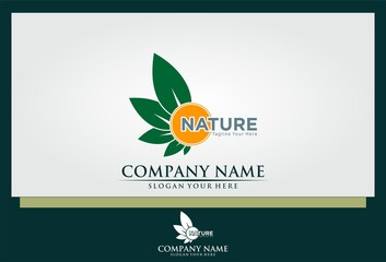 sun flower nature logo