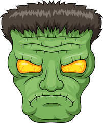 Icon of the Frankensteins head. Vector illustration