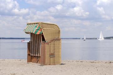 Strandkörbe am Strand von Langballig Au