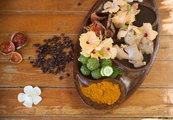 spa massage herb