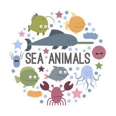 Vector sea animal