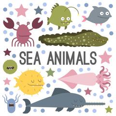 Vector sea animal