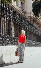 Beautiful Blonde Woman in Rome