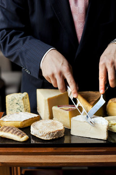 Serving Cheese In A Five Star Restaurant