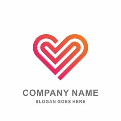 Heart Love Infinity Luxury Diamond Jewelry Fashion Accessories Business Company Stock Vector Logo Design Template