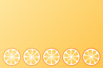 Background with oranges. Vector.