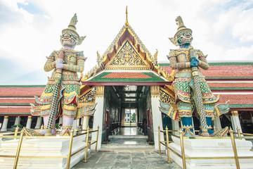 Giant guard Wat Phra Kaew Grand Palace Bangkok.