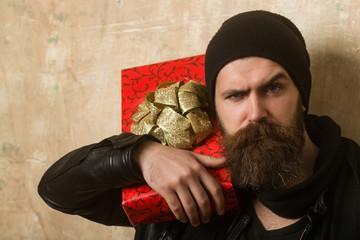 Man with long beard.