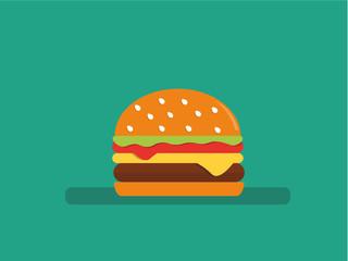 Flat style vector hamburger icon.