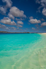 Fond de hotte en verre imprimé Turquoise Klein Bonaire Beach, capture in this beautiful island close to the Capital of Bonaire, Kralendijk island of the Netherlands Caribbean, with its paradisiac beaches and water.