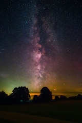 The center of the Milky Way as seen from the summit of the mountain Witthoh near Tuttlingen in Germany.
