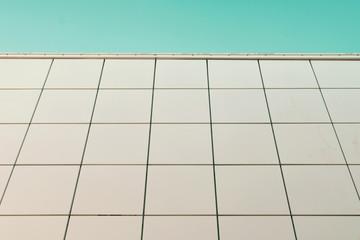 Abstract facade. Close up of a building facade.