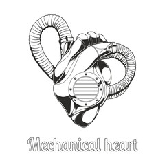 Mechanical Heart Lineart