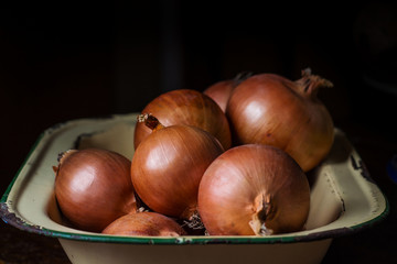 Onions in a plate