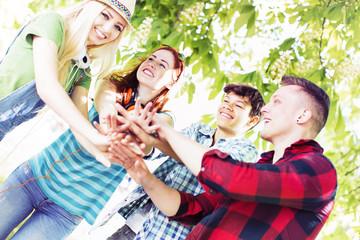 Jugendliche Teamwork