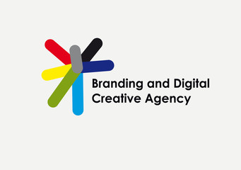 Branding and digital creative agency simpe logo