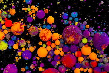Abstract artistic color balls