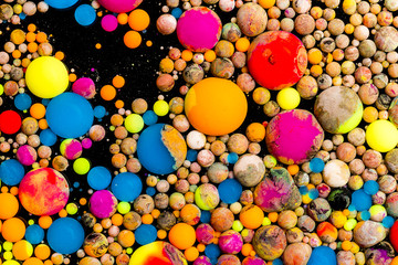 Colorful ink balls