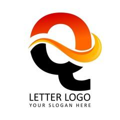 Letter Q Fire Logo