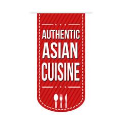 Authentic asian cuisine banner design