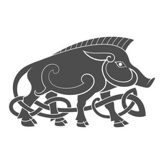 Ancient celtic mythological symbol of boar