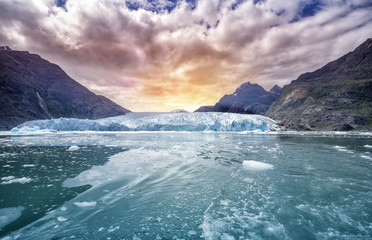 Tuinposter Gletsjers Glacier Bay National Park, for Glacier background landscape in Alaska