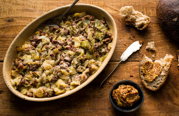Sausage and Cabbage Casserole....