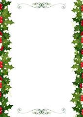 Holly Christmas Border