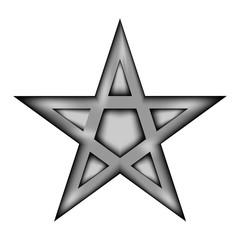 Pentagram icon sign.