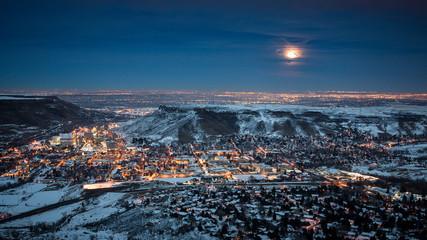 Golden Colorado Moonrise
