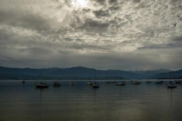 Boats in Grand Lake, Colorado