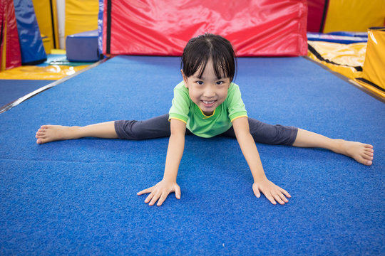 Asian Chinese little girl playing indoor