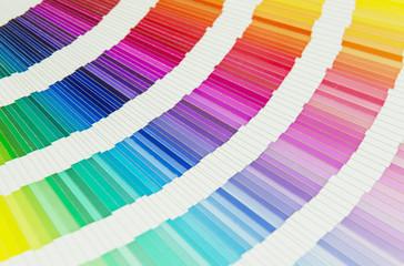 Pantone color palette swatches