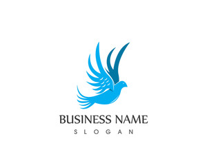Dove bird Logo Design Template