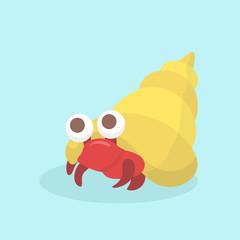Cartoon hermit crab.