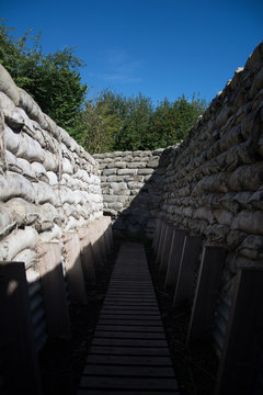 World War one trenches