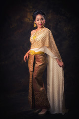 Asia woman in tradition dress