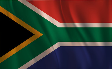 Flag of The Republic of South Africa, Waving