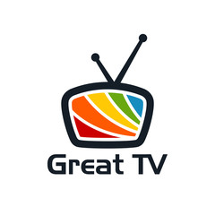 colorful Television logo template, Great Television Logo designs vector illustration