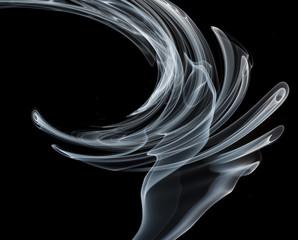 Smoke on a black background