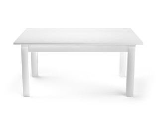 White Table 3d illustration
