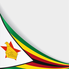 Zimbabwe flag background. Vector illustration.