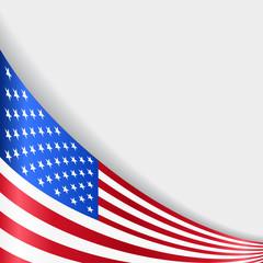 American flag background. Vector illustration.