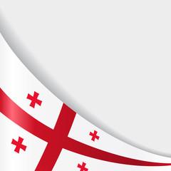 Georgian flag background. Vector illustration.