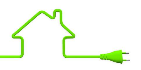 énergie durable fiche prise électrique verte maison