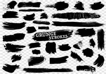 40 Hand Drawn Grunge Strokes Set