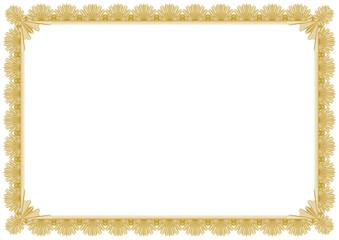 Classic Gold border frame editable vector