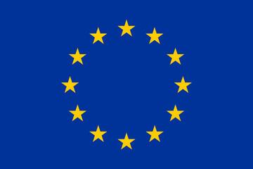 Официальный, современный флаг Евросоюза и Совета Европы. Векторная иллюстрация.