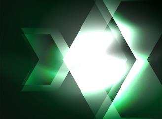 Digital technology glowing arrows